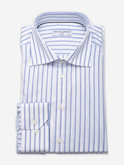 Navy Striped Twill Shirt