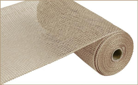 "Deco mesh - 10"" x 10yd  NATURAL  Poly Burlap - unique in the creek canada"