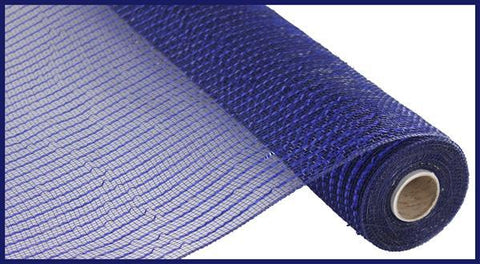 "Deco mesh - 10"" x 10yd NAVY with royal blue Wide Foil - unique in the creek canada"