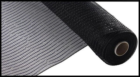 "Deco mesh - 10"" x 10yd  BLACK Wide Foil - unique in the creek canada"