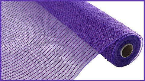 "Deco mesh - 10"" x 10yd Light PURPLE with purle Wide Foil - unique in the creek canada"