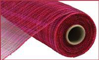 "Deco mesh - 10"" x 10yd  Hot Pink/Red/Burgundy Multi Stripe - unique in the creek canada"