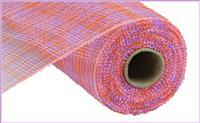 "Deco mesh - 10"" x 10yd  Orange /Lavender/Pink Multi Stripe - unique in the creek canada"
