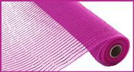 "Deco mesh - 10"" x 10yd  Hot Pink w/ Hot Pink Wide Foil - unique in the creek canada"