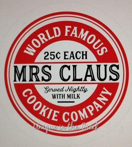 "160. world famous mrs claus cookie Co. ""PAPER"" image - unique in the creek canada"