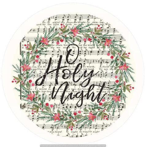 "187. O HOLY NIGHT ""PAPER"" image center - unique in the creek canada"