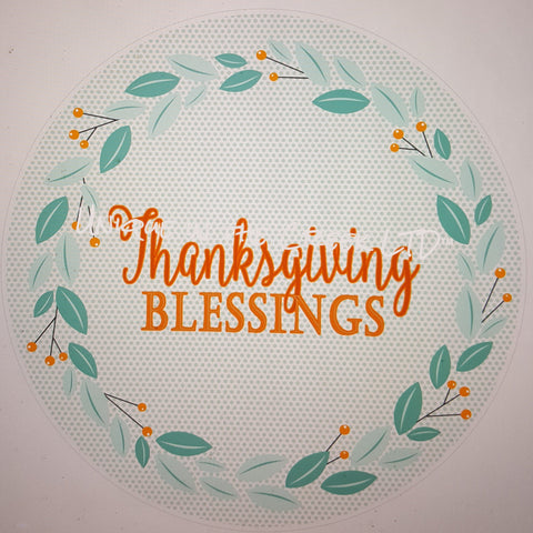 Thanksgiving Blessings- digital insert for use with the UITC system - unique in the creek canada