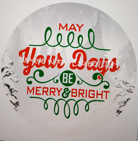 May your days be merry - digital insert for use with the UITC system - unique in the creek canada