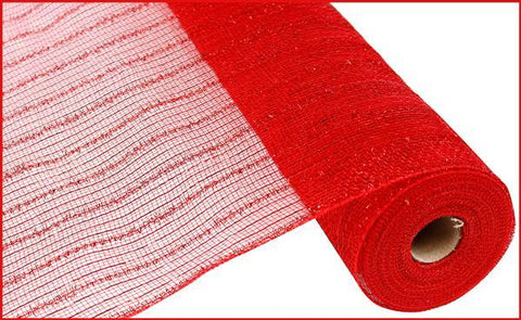 "Deco mesh - 21"" x 10yd RED TINSEL FOIL - unique in the creek canada"