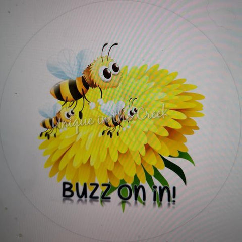 "317. Buzz on in""PAPER"" image center - unique in the creek canada"