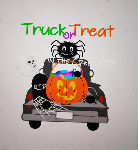 "34. TRUCK OR TREAT ""PAPER"" image center - unique in the creek canada"