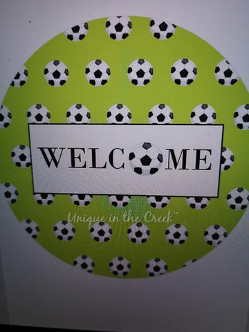 "343 . Welcome soccer ""PAPER"" image center - unique in the creek canada"