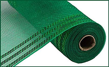 "Decomesh - 10.5""X10YD BORDER STRIPE METALLIC emerald GREEN - unique in the creek canada"