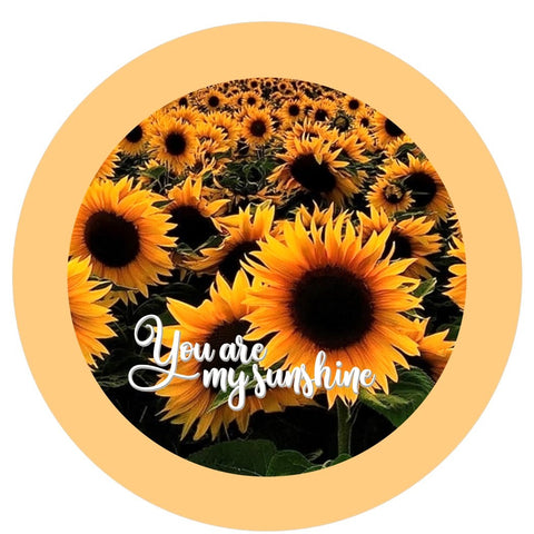 "625. You are my sunshine Sunflower ""VINYL"" image center"