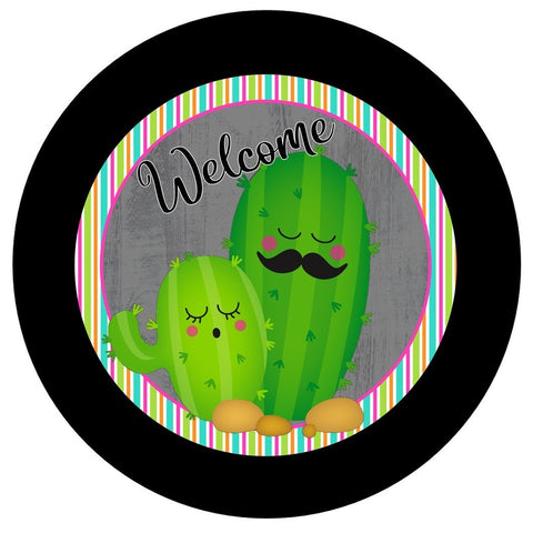 "656.  Welcome Cactus ""VINYL"" image center"