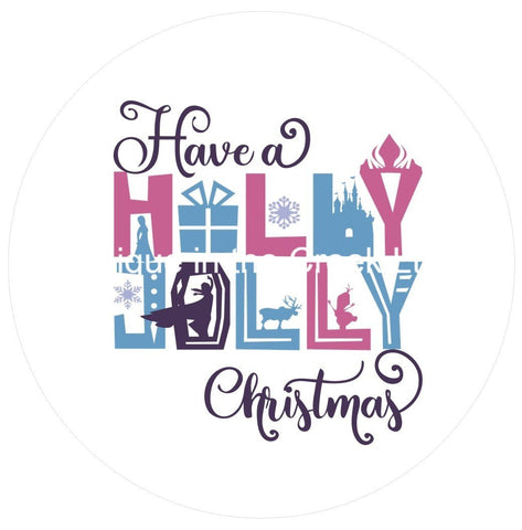 683.  Have a Holly Jolly Christmas Vinyl image center