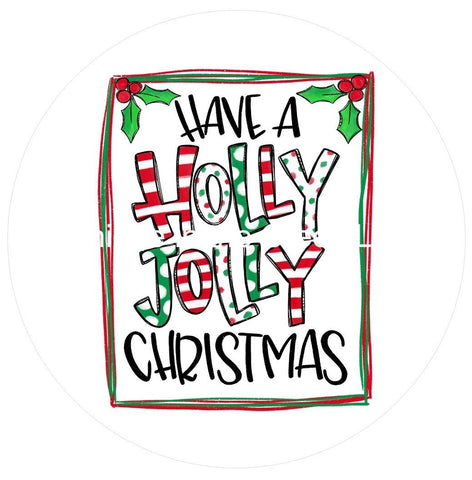 685.  Have a holly jolly christmas Vinyl image center