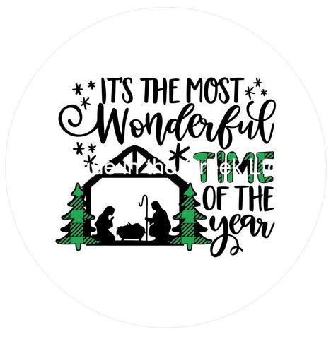 694.  Its the most wonderful time Nativity Vinyl image center