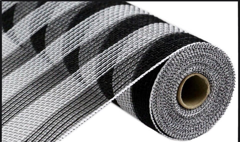"10.5""X10yd FABRIC MESH Black and white - unique in the creek canada"