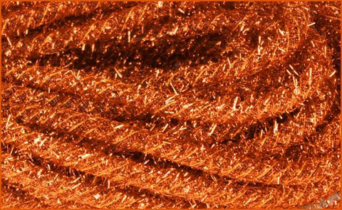 8MM Tinsel Flex Tubing Ribbon: Metallic ORANGE (20 Yards) - unique in the creek canada