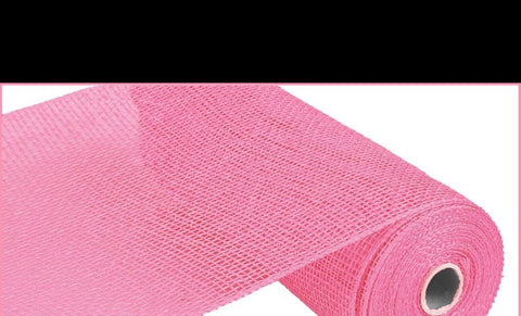 "Deco mesh - 10"" x 10yd PINK Poly Burlap - unique in the creek canada"