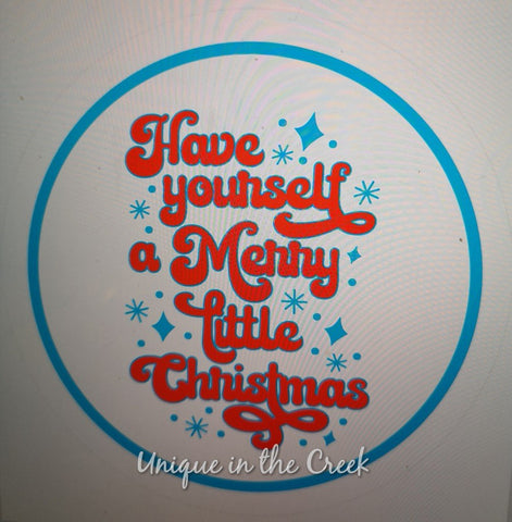 Have Yourself a Merry Little Christmas - digital insert for use with the UITC system - unique in the creek canada
