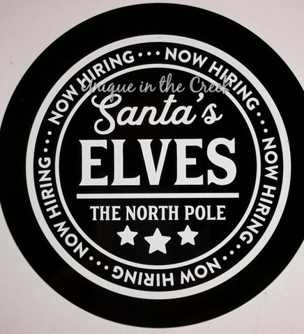 Now Hiring Santas Elves- digital insert for use with the UITC system - unique in the creek canada