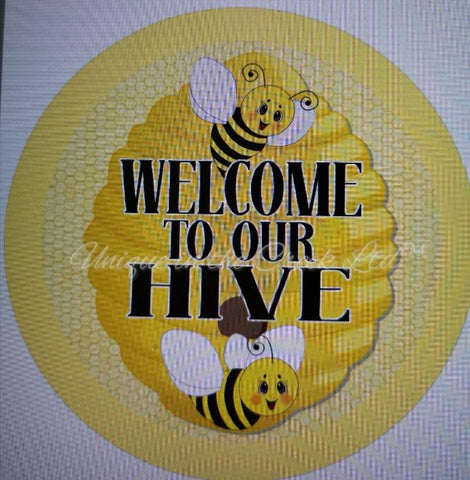 "533. Welcome to the Hive ""VINYL"" image center - unique in the creek canada"