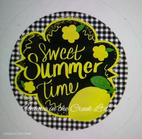 "541. Sweet summertime w Lemons""PAPER"" image center - unique in the creek canada"