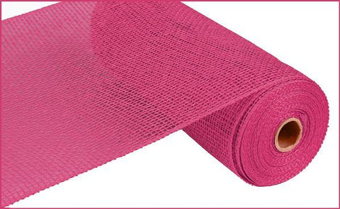 "Poly Burlap- 10"" x 10yd  FUSCHIA (HOT PINK) - unique in the creek canada"