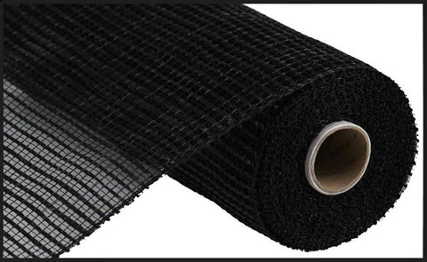 "Decomesh - 10""X10YD WIDE STRIPE MESH BLACK (very similar to poly burlap) - unique in the creek canada"