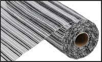 "Decomesh - 10""X10YD WIDE STRIPE MESH BLACK/WHITE (very similar to Poly Burlap) - unique in the creek canada"