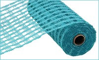 "Deco mesh - 10""x10yd  CHECK  Poly Burlap TURQUOISE - unique in the creek canada"