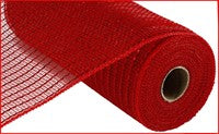 "Deco mesh - 21"" x 10yd RED with WIDE red Foil MATTE - unique in the creek canada"