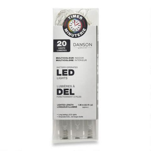 Battery Operated Timer Lights - White Warm color - unique in the creek canada