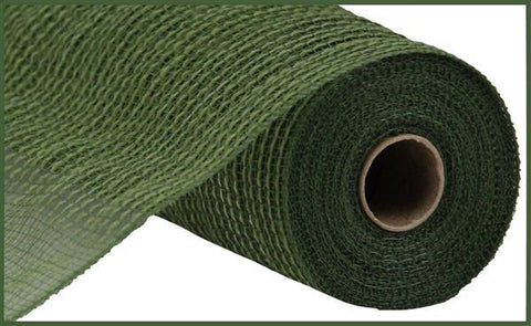 "10.5""X10yd Cotton/Faux Jute MOSS GREEN - unique in the creek canada"