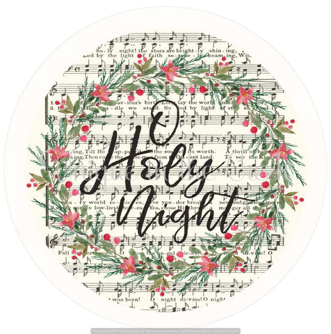 O Holy night with music notes - digital insert for use with the UITC system - unique in the creek canada