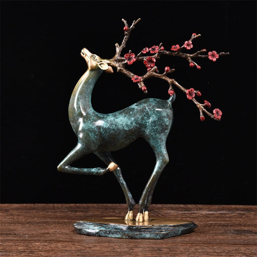 Proud deer sculpture