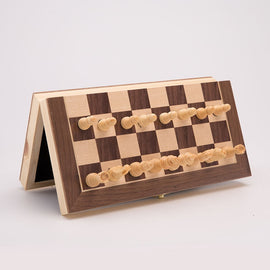 Wooden Folding Chess Set