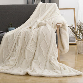 Thick Knitted Blanket