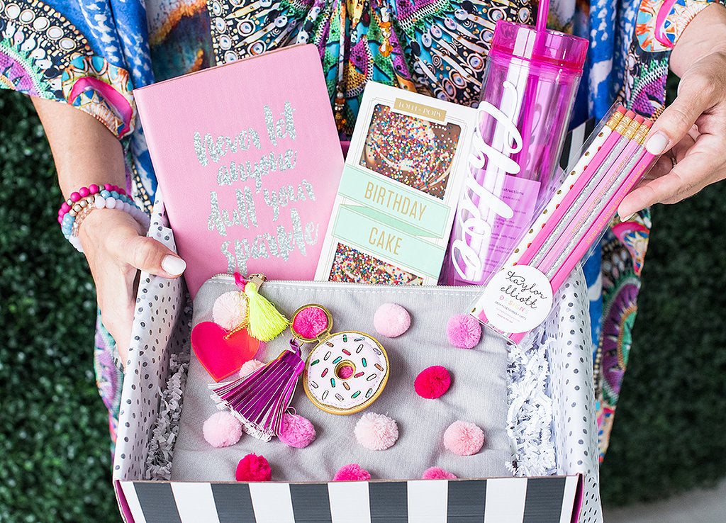 Pink Pom Birthday Box