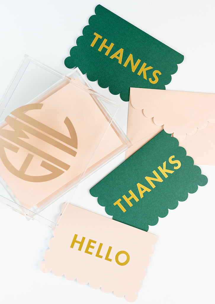 Acrylic Thank You Notecards