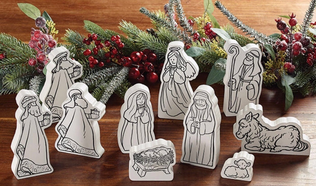 Color Your Own Nativity Set