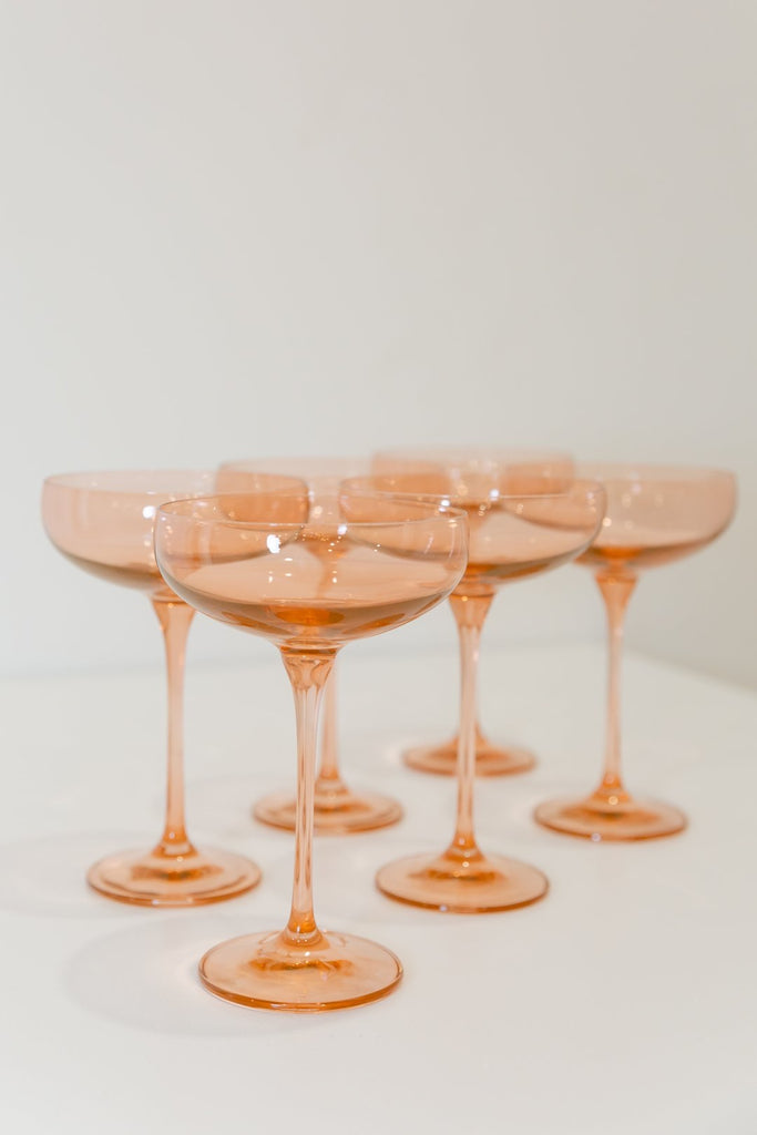 Estelle Colored Glass Champagne Coupe PREORDER