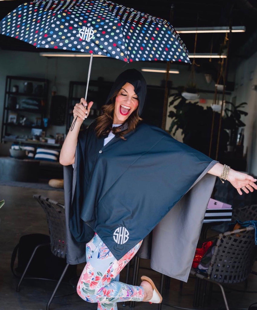 Polka Dot Monogrammed Umbrella