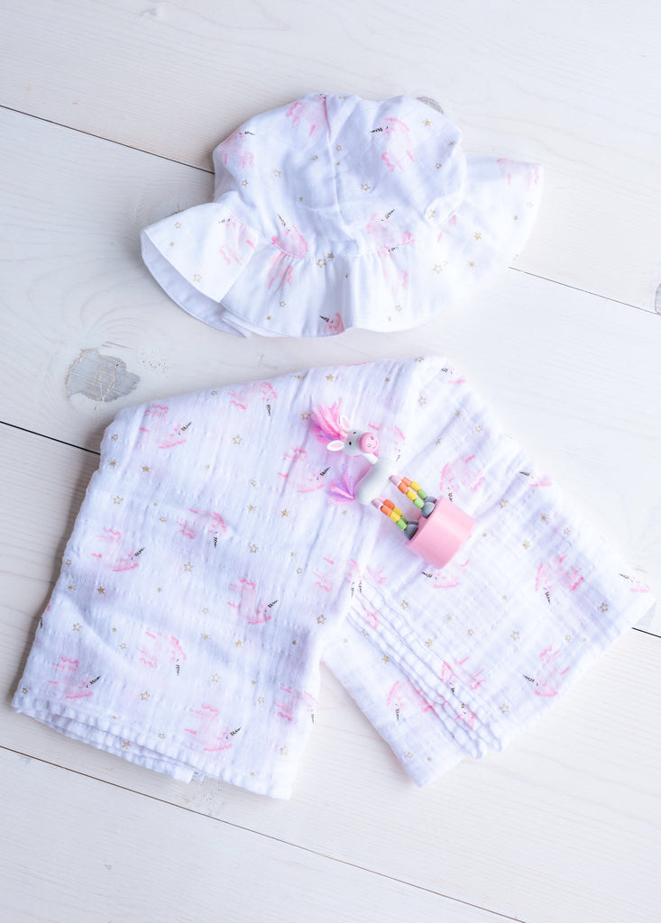 Unicorn Muslin Girl Set