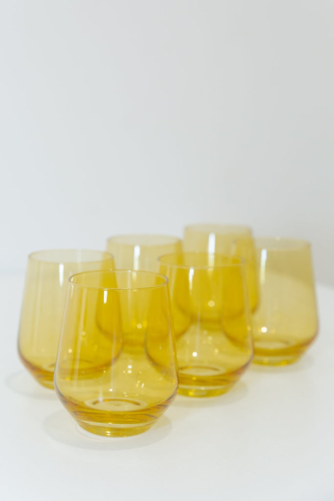 Estelle Colored Glass Stemless PREORDER