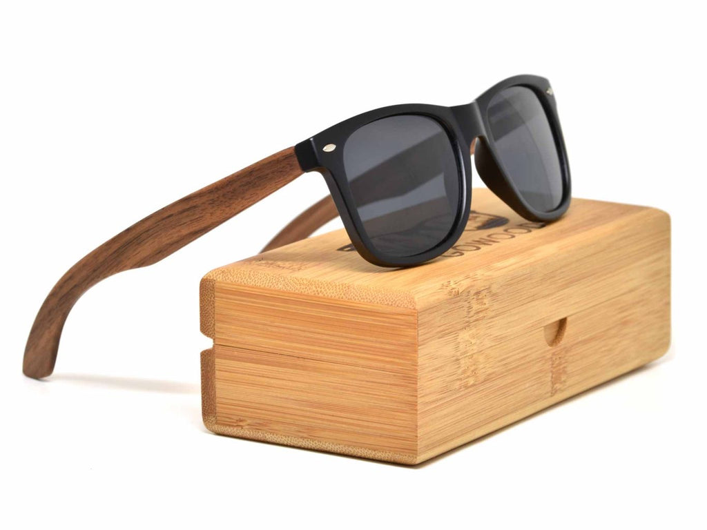 Ebony Wood and Classic Walnut Wood Polarized Sunglasses