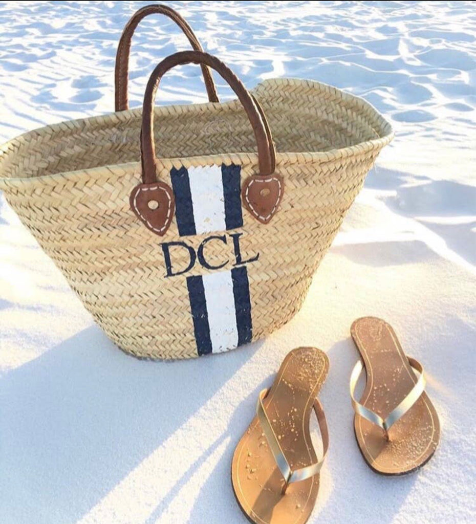 Painted Straw Tote (Large) PREORDER