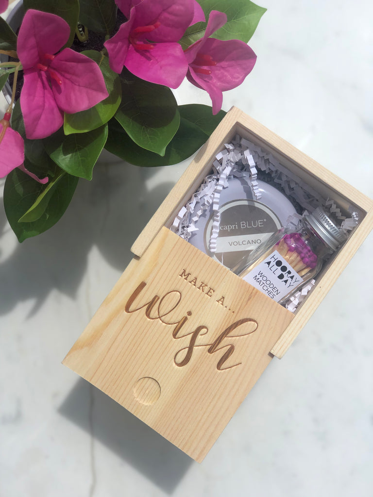 Make A Wish Wooden Gift Box